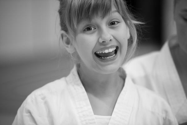 Barngradering på Västerås Karatecenter
