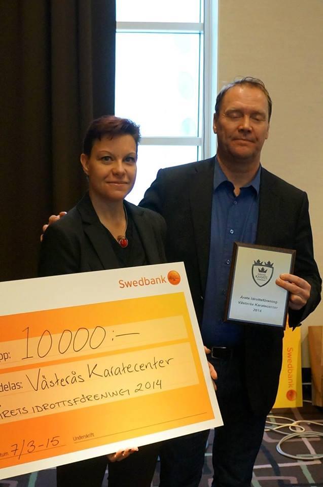 Västerås Karatecenter Årets Idrottsförening enligt Svenska Karateförbundet