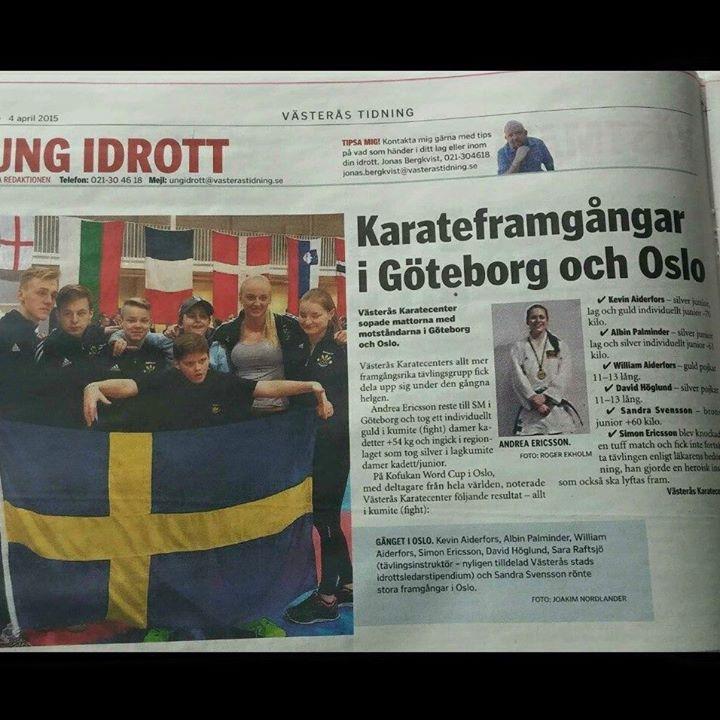 Västerås Karatecenter i Västerås Tidning